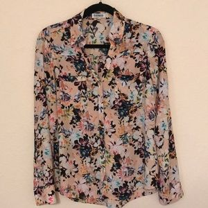 Express Portifino Pink Floral Button Up